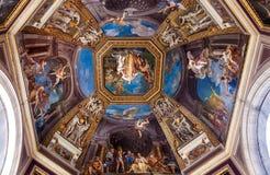 Teto Frescoed no Salão dos musas Fotografia de Stock Royalty Free