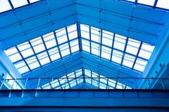Teto geométrico azul abstrato Fotos de Stock Royalty Free
