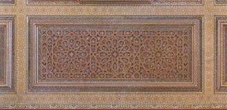 Teto mouro ornamentado pintado imagem de stock