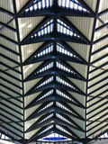 Teto na estação de Saint-Exupery Foto de Stock Royalty Free