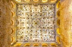 Teto no Alhambra Fotografia de Stock