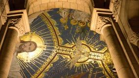 Teto no interior da igreja do coeur do sacre Foto de Stock