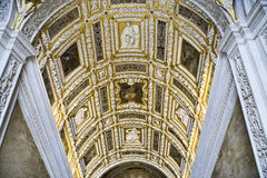 Teto no palácio do Doge em Veneza Fotos de Stock