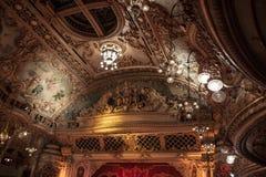 Teto ornamentado no salão de baile da torre de Blackpool Foto de Stock