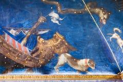 Teto pitoresco no museu ducal Mantua do palácio Imagem de Stock