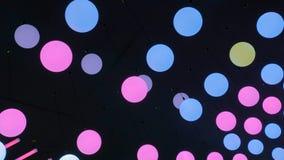Teto que move bolas conduzidas fotografia de stock royalty free