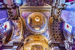 Teto Santa Maria Maddalena Church Rome Italy da abóbada Foto de Stock Royalty Free