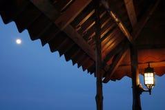Teto sob o luar. Panamá, del Toro de Bocas Fotos de Stock