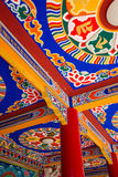 Teto tibetano do templo Fotos de Stock