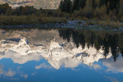 Teton反射 免版税图库摄影