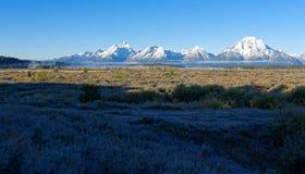 Teton范围在大蒂顿国家公园,怀俄明 免版税库存图片