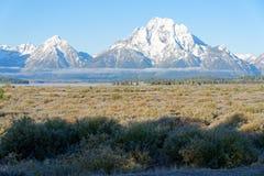 Teton范围在大蒂顿国家公园,怀俄明 免版税库存照片