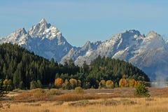 Teton范围横向  免版税库存图片
