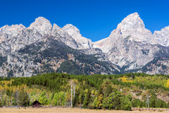 Teton范围和山麓小丘 免版税库存照片