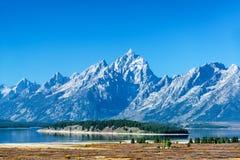 Teton范围和海岛 免版税库存图片