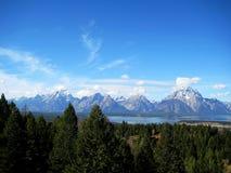 Teton范围& x28; 怀俄明, USA& x29; 免版税库存照片