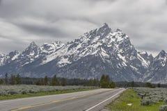 Teton范围,大蒂顿国家公园 免版税库存照片