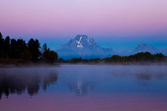 teton восхода солнца oxbow загиба грандиозное Стоковая Фотография