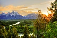 грандиозное teton национального парка Стоковое Фото
