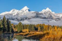 Teton Autumn Landscape Immagini Stock Libere da Diritti