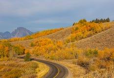 Teton Autumn Landscape Scenic fotografia stock