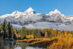 Teton Autumn Landscape Royalty Free Stock Images
