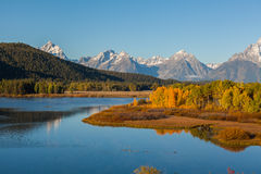 Teton Autumn at Oxbow Bend Royalty Free Stock Image