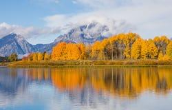 Free Teton Autumn Reflection Landscape Stock Image - 112280061
