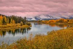Teton Autumn Reflection Royalty Free Stock Image
