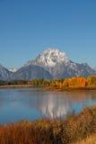 Teton Autumn Reflection Stock Image