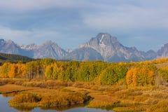 Teton Autumn Scenic Landscape immagine stock