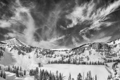 Teton backcountry sky Monochrome Stock Photography