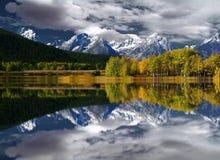 Teton bergreflexion Fotografering för Bildbyråer