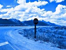 Teton-Blau lizenzfreie stockbilder