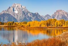 Teton Fall Reflection at Oxbow Bend Royalty Free Stock Image