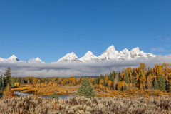 Teton Fall Scenic Landscape Royalty Free Stock Photography