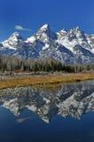 Teton Gebirgszug lizenzfreie stockfotografie
