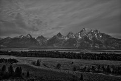 Teton grand B&W Photographie stock