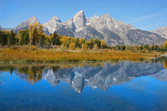 teton grand de stationnement national image libre de droits