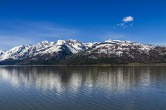 Teton grand, Jackson Lake photo libre de droits
