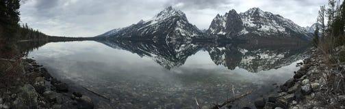 Teton grande panorâmico fotografia de stock