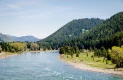 Teton grande - represa Imagem de Stock Royalty Free