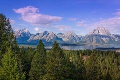 Teton and Jackson Lake Landscape in Fall Royalty Free Stock Image