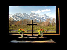 Teton Kapelle Lizenzfreies Stockfoto