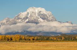 Teton Landscape in Autumn Royalty Free Stock Photography