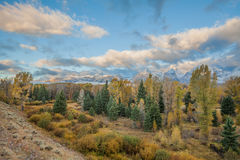 Teton Landscape in Autumn Royalty Free Stock Photos