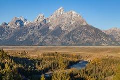 Teton Landscape in Fall Stock Photo