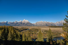 Teton Landscape in Fall Royalty Free Stock Photos