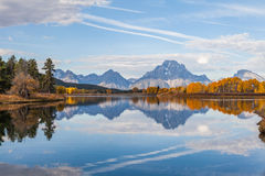 Teton Landscape Reflection in Fall Stock Images