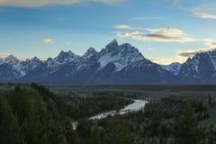 Teton magnífico y el río Snake Fotos de archivo